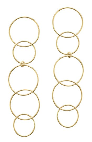 Lana Jewelry Open Disc Linear Drop Earrings