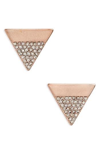 Women's Canvas Jewelry Pavé Triangle Stud Earrings