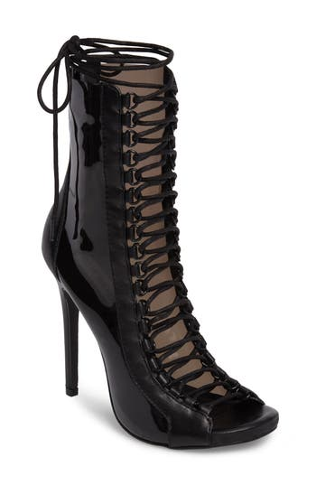 Steve Madden Flash Lace-Up Bootie- Black