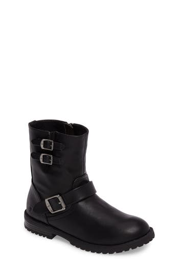 Girl's Frye Veronica Buckle-Strap Engineer Boot