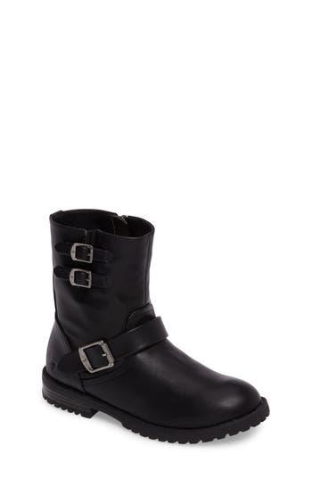 Girls Frye Veronica BuckleStrap Engineer Boot Size 2 M  Black