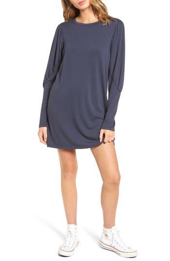 Everly Statement Sleeve Sweatshirt Dress, Grey