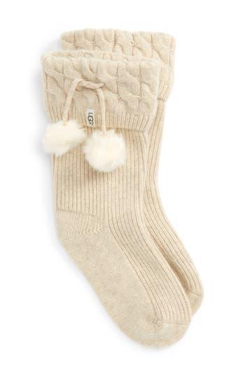 UGG® UGGpure™ Pompom Short Rain Boot Sock