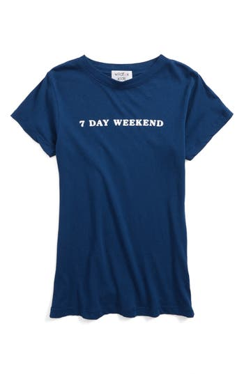 Girl's Wildfox 7 Day Weekend Tee, Size 7-8 - Blue