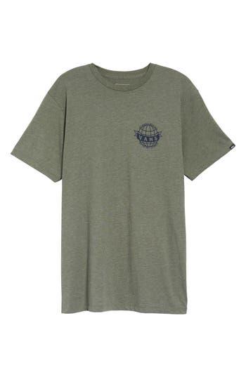Vans Global Landing Logo Graphic T-Shirt, Green