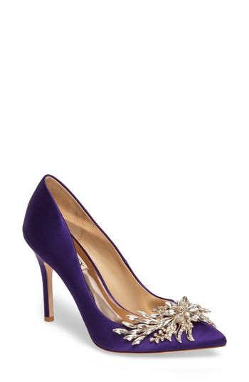 Badgley Mischka Marcela Pointy Toe Pump, Purple
