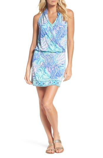 Lilly Pulitzer Felizia Blouson Dress, Blue/green