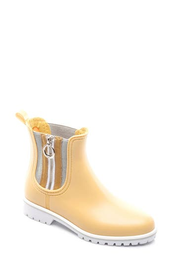 Bernardo Footwear Zip Rain Boot, Yellow