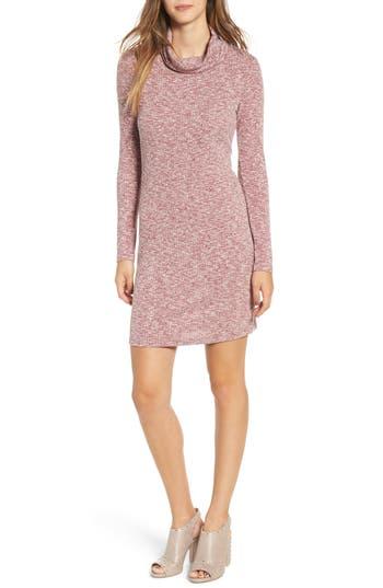 Everly Knit Turtleneck Dress, Burgundy