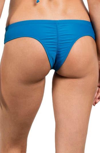 Volcom Simply Solid Cheeky Bikini Bottoms, Blue