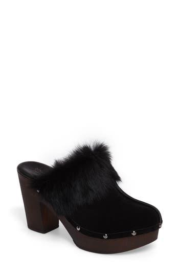Donald J Pliner Willo Genuine Rabbit Fur Mule