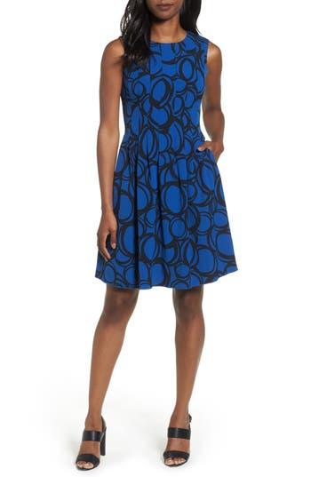 Women's Anne Klein Print Fit & Fare Dress
