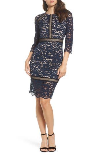 Vince Camuto Lace Sheath Dress, Blue