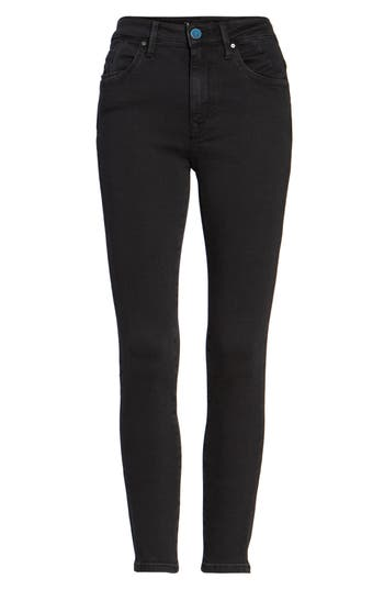 Mavi Jeans Tess High Waist Ankle Skinny Jeans, x 27 - Black
