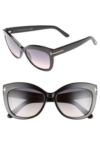 Tom Ford Alistair 5m Gradient Sunglasses - Shiny Black / Gradient Smoke