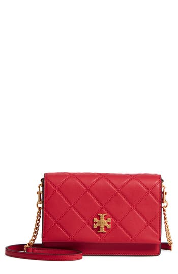 Tory Burch Mini Georgia Quilted Leather Shoulder Bag - Red