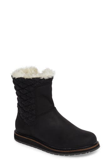 Helly Hansen Seraphina Waterproof Boot With Faux Fur Trim- Black
