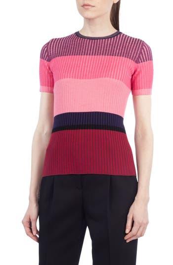Women's Akris Punto Colorblock Wool Top, Size 6 - Pink