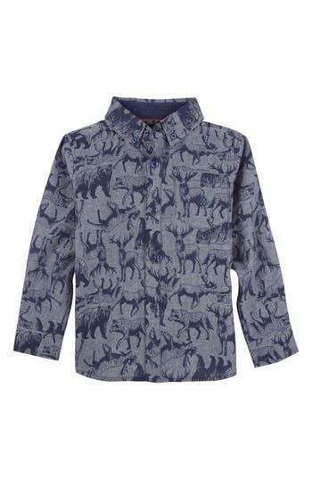 Infant Boys Andy  Evan Animal Print Woven Shirt