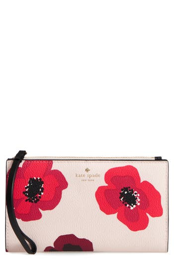 Kate Spade New York Hyde Lane Poppy Eliza Leather Wallet - Red
