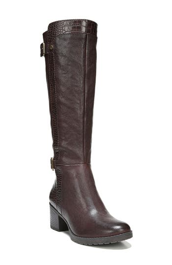 Naturalizer Rozene Knee High Boot, Wide Calf- Brown
