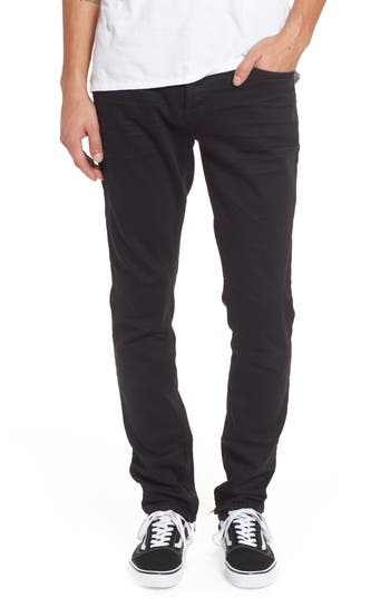 Hudson Jeans Vaughn Biker Skinny Fit Jeans, Black