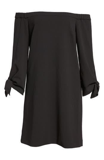 Tibi Off The Shoulder Flutter Sleeve Dress
