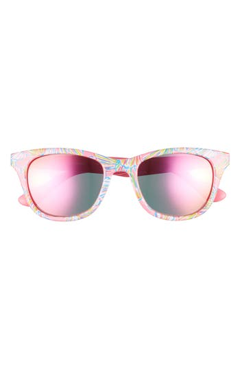 Lilly Pulitzer Maddie 52Mm Polarized Mirrored Sunglasses - Pink