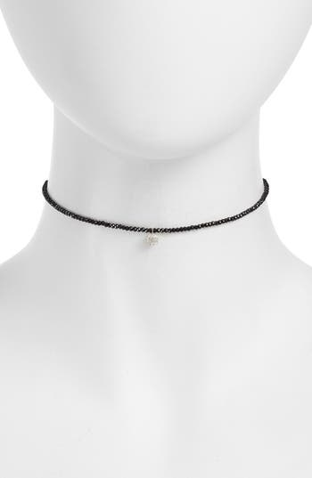 Meira T Diamond Charm Choker Necklace