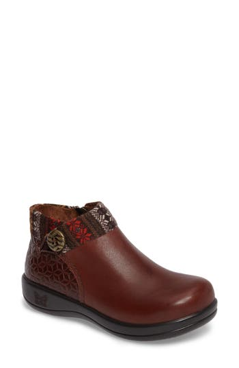 Alegria Sitka Knit Collar Bootie, Brown