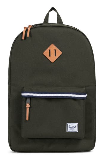 Herschel Supply Co. Heritage Offset Stripe Backpack - Green
