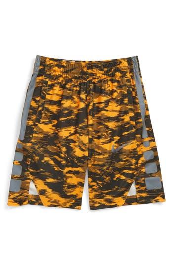 Boy's Nike Dry Elite Basketball Shorts, Size XS (7) - Orange
