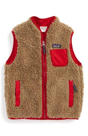 Boy's Patagonia Classic Retro-X Fleece Vest, Size 2T - Beige