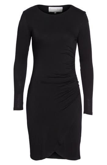 Charles Henry Knit Tulip Hem Dress, Black