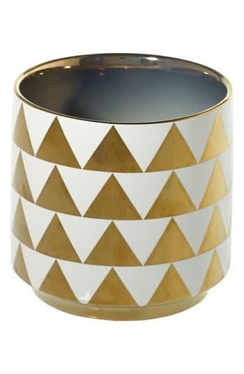 Accent Decor Gold Ceramic Vase, Metallic