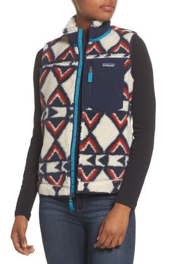 Women's Patagonia Classic Retro-X Fleece Vest, Size X-Small - Brown