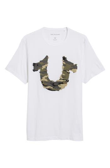 True Religion Brand Jeans 3D Camo Graphic T-Shirt, White
