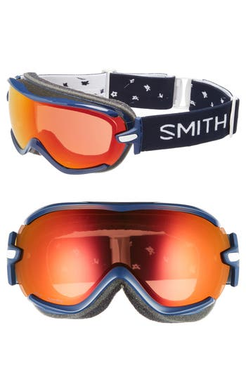 Women's Smith Virtue Ski/snow Goggles - Navy Micro Floral/ Mirror