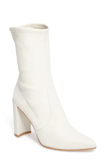 Stuart Weitzman Clinger Stretch Bootie, White