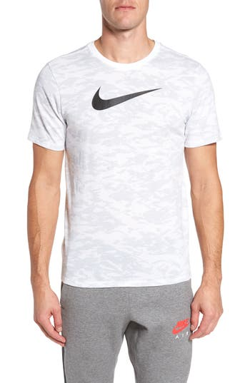 Nike Basketball Attack Logo T-Shirt, White
