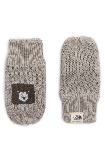 Infant The North Face Faroe Knit Mittens, Grey