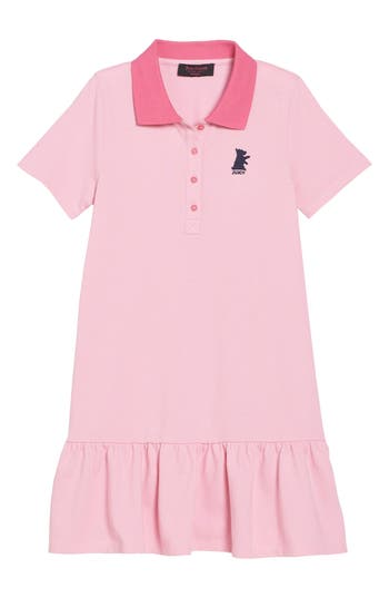 Girl's Juicy Couture Pique Polo Dress, Size 8 - Pink