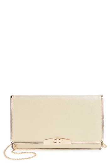Cesca Metallic Crossbody Clutch - Metallic