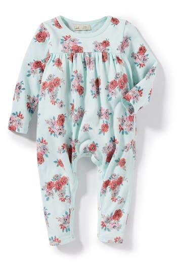 Infant Girl's Peek Floral Romper, Size XS (0-3m) - Blue