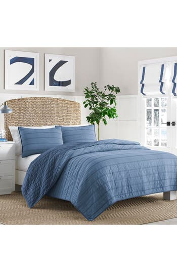 Nautica Buchanan Quilt, Size Twin - Blue