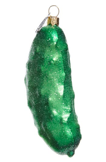 Nordstrom At Home Christmas Pickle Glass Ornament