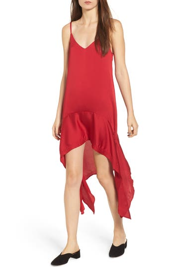 The Fifth Label Palladium Shark Bite Hem Dress, Red