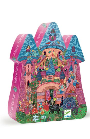 Girl's Djeco Silhouette Puzzles The Fairy Castle 54-Piece Puzzle