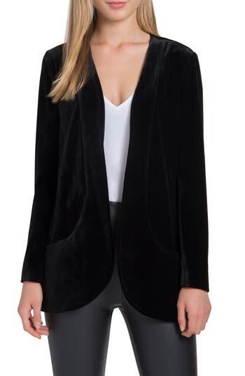 Women's Lysse Ella Velvet Jacket, Size Large - Black