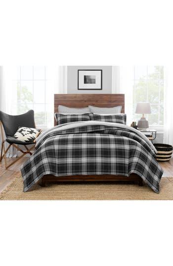 Pendleton Plaid Comforter & Sham Set, Size Full/Queen - White